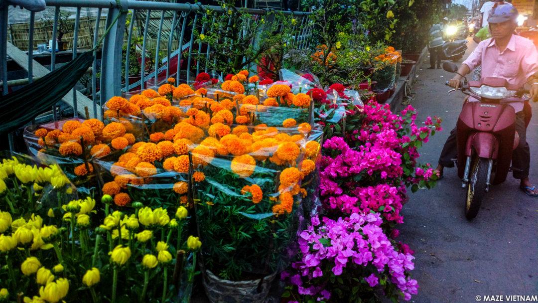 Binh Dong Floating Flower Market.Binh Dong Flower Floating Market In Saigon Maze Vietnam