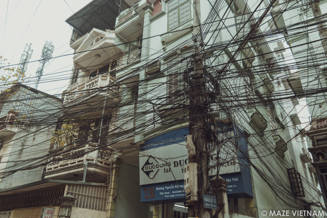 Fine The Tangle Of Electrical Wires In Hanoi A Nightmare For Wiring Cloud Hisonuggs Outletorg
