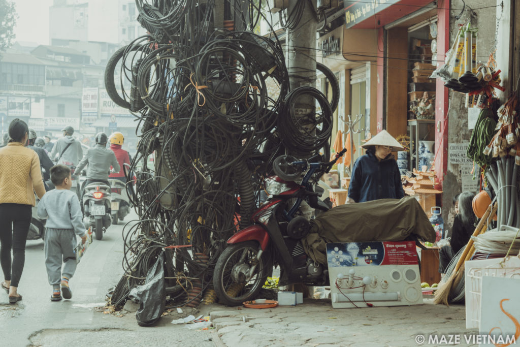 Super The Tangle Of Electrical Wires In Hanoi A Nightmare For Wiring 101 Tzicihahutechinfo