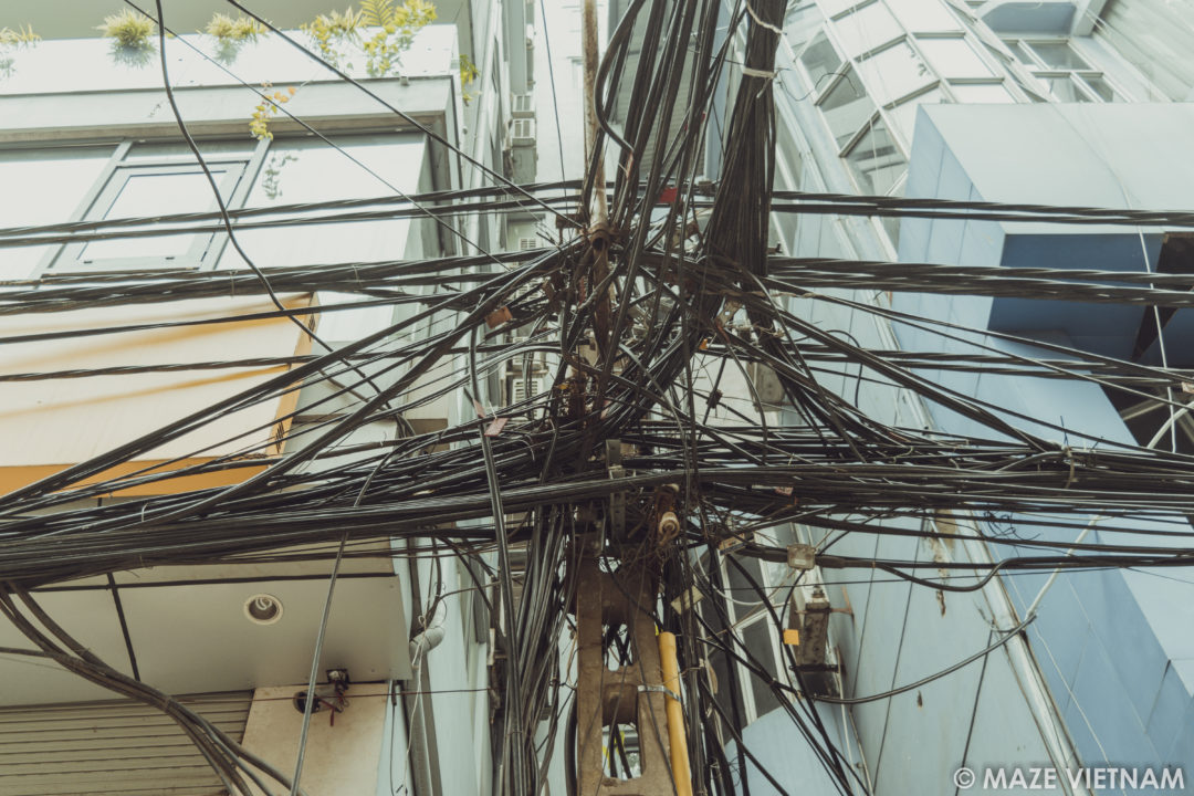Groovy The Tangle Of Electrical Wires In Hanoi A Nightmare For Wiring 101 Tzicihahutechinfo