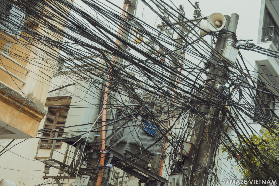 Peachy The Tangle Of Electrical Wires In Hanoi A Nightmare For Wiring Digital Resources Ntnesshebarightsorg