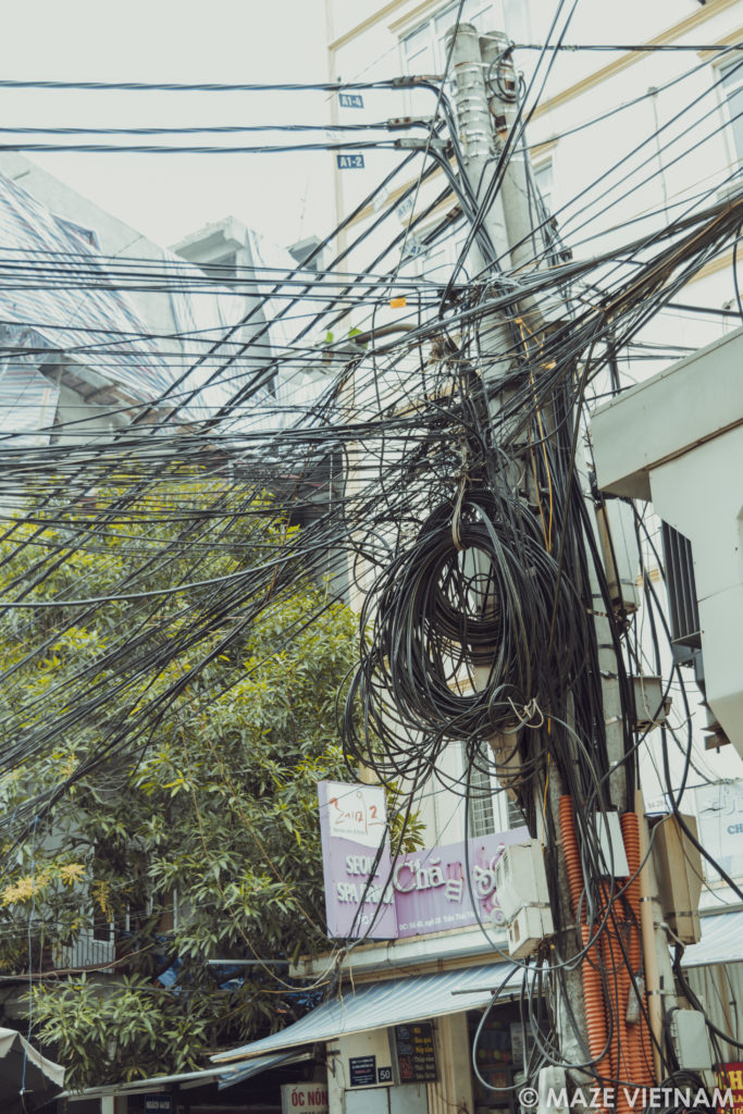 the tangle of electrical wires in hanoi a nightmare for rh mazevietnam com Telco Wiring India India Phone Wiring Pictures