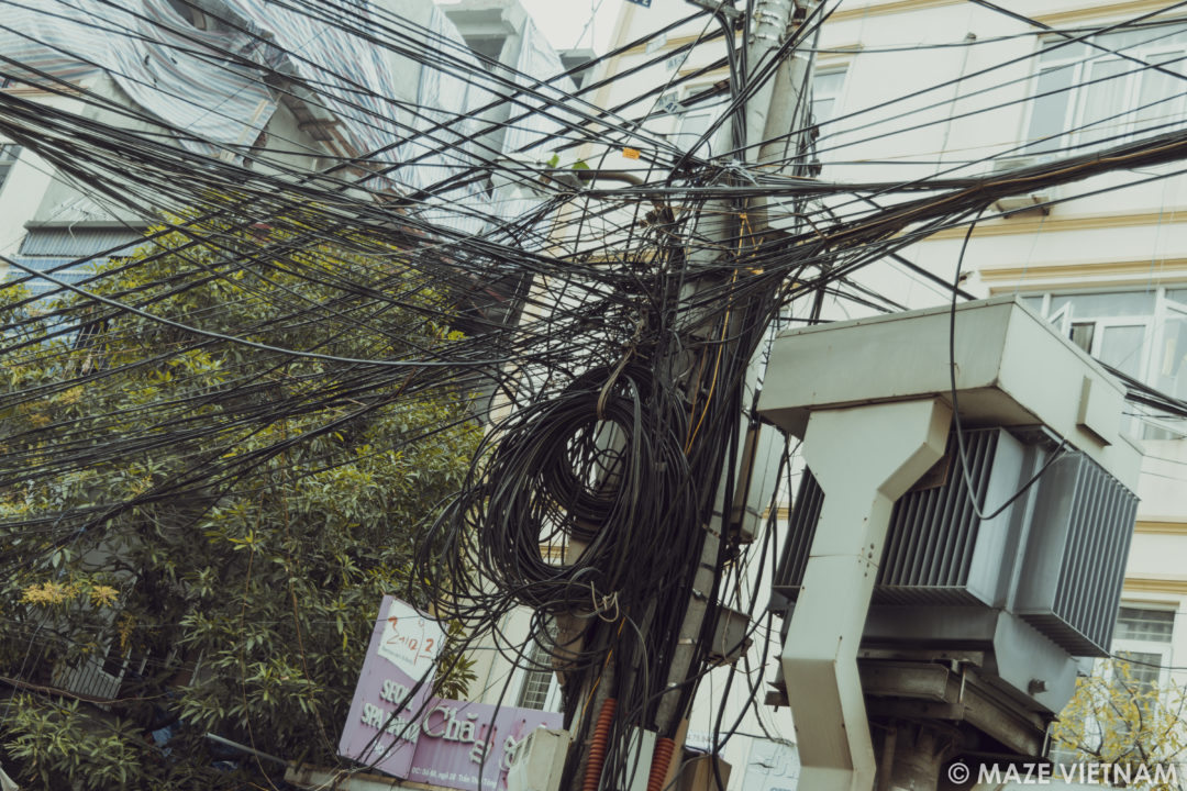 Excellent The Tangle Of Electrical Wires In Hanoi A Nightmare For Wiring Cloud Hisonuggs Outletorg